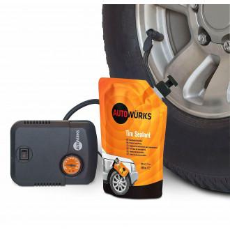 Kit foratura per riparazione pneumatico auto...