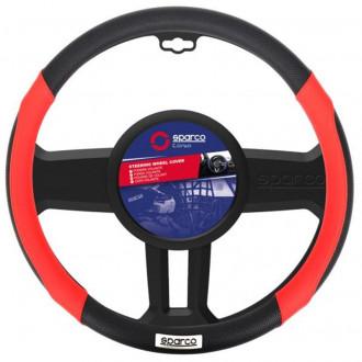 Coprivolante  Sparco  Sport Line Rosso-Nero