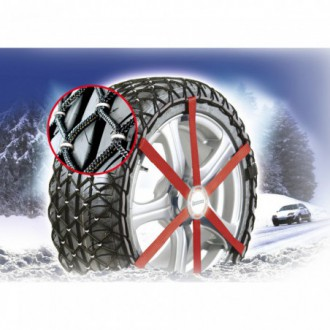 Coppia catene neve composite Michelin Easy Grip...
