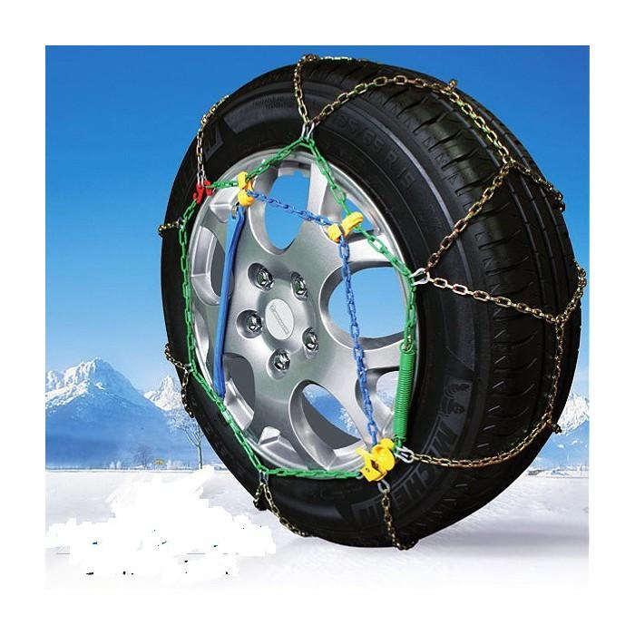 Catene da neve a rombo spessore 9mm per auto pneumatico 195//75R14 1957514