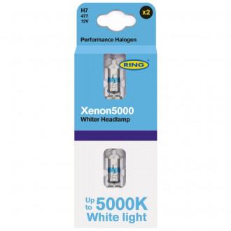 COPPIA LAMPADINA H7 XENON 5000K