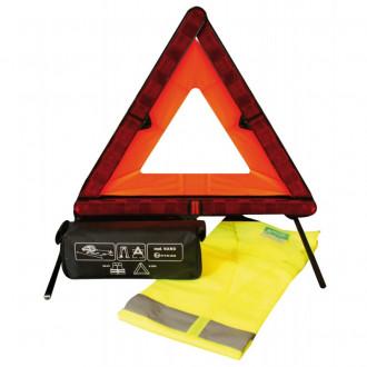 Kit sicurezza triangolo auto ferma + gilet alta...
