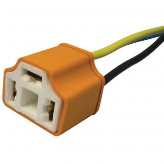 Connettore ceramico per lampade H4 uscita dritta