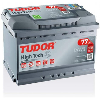 "Batteria Auto Tudor High Tech   TA 770 ""  77 Ah """