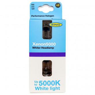 Coppia Lampadine Ring  Xenon5000  H4 5000K