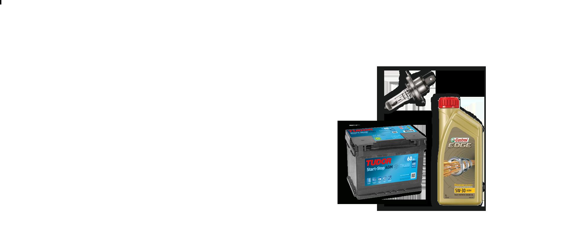 Ricambi per auto - Batterie, filtri, spazzole tergicristallo, lampadine e olio motore